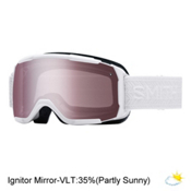 Smith Showcase Womens OTG Goggles, White Eclipse-Ignitor Mirror, medium