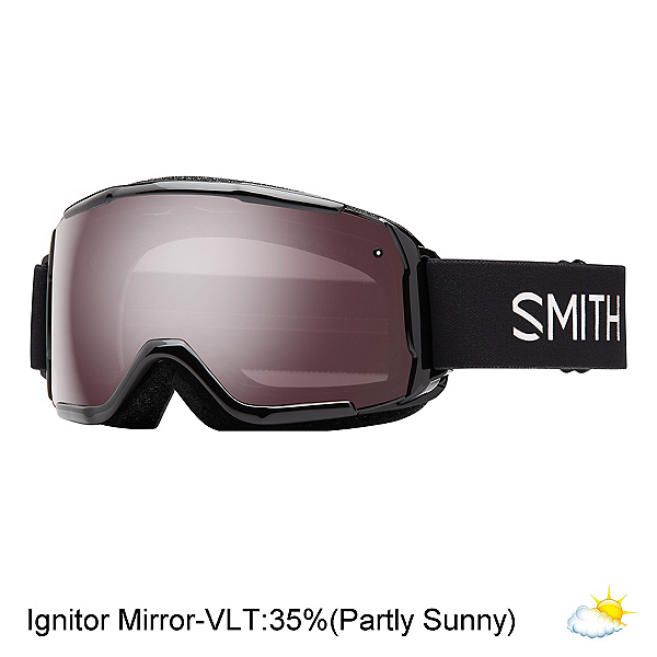 Smith Grom Kids Goggles 2017, Black-Ignitor Mirror, 600