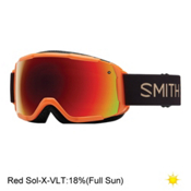 Smith Grom Kids Goggles 2017, Neon Orange Sunset-Red Sol X M, medium