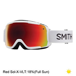 Smith Grom Kids Goggles 2017, White-Red Sol X Mirror, 256