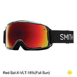 Smith Grom Kids Goggles, Black-Red Sol X Mirror, 256