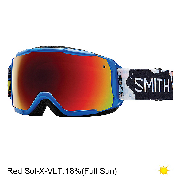 Smith Grom Kids Goggles 2017, Lapis Ripped Comic-Red Sol X M, 600