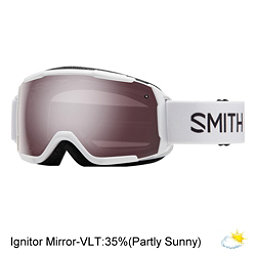 Smith Grom Kids Goggles, White-Ignitor Mirror, 256