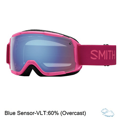 Smith Grom Girls Goggles 2017, Fuchsia Static-Blue Sensor Mir, viewer