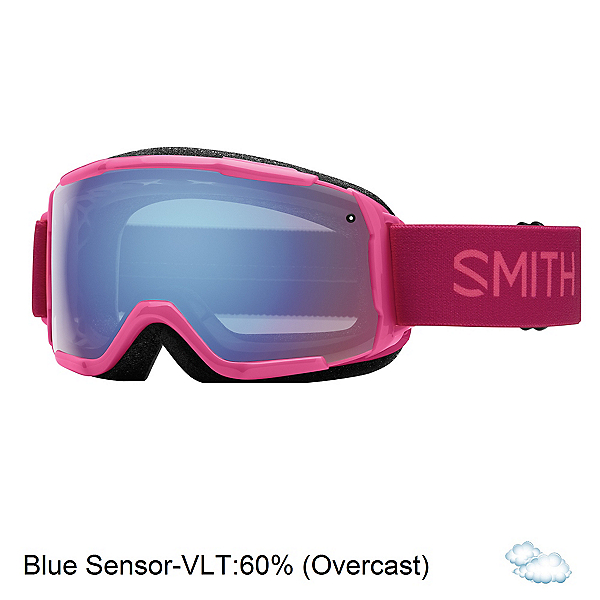 Smith Grom Girls Goggles 2017, Fuchsia Static-Blue Sensor Mir, 600