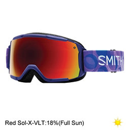 Smith Grom Girls Goggles, Ultraviolet Dollop-Red Sol X M, 256
