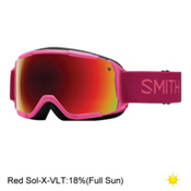 Smith Grom Girls Goggles 2017, Fuchsia Static-Red Sol X Mirro, medium