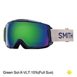 Smith Grom Girls Goggles 2017, Midnight Brighton-Green Sol X, 256