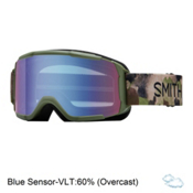 Smith Daredevil Kids Goggles 2018, Olive Haze-Blue Sensor Mirror, medium
