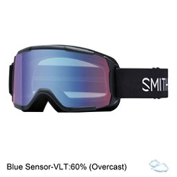 Smith Daredevil Kids Goggles 2017, Black-Blue Sensor Mirror, 256