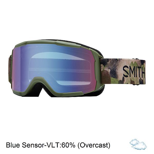 Smith Daredevil Kids Goggles, Olive Haze-Blue Sensor Mirror, 600