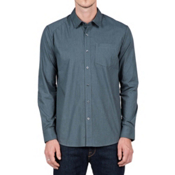 Volcom Everett Solid Long Sleeve Mens Shirt, Putty, medium