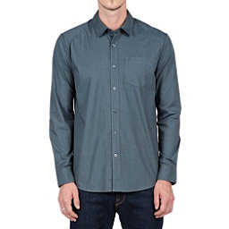 Volcom Everett Solid Long Sleeve Mens Shirt, Putty, 256