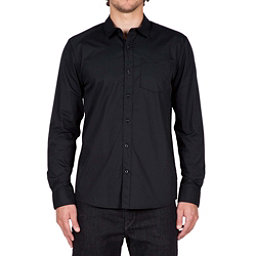 Volcom Everett Solid Long Sleeve Mens Shirt, Black, 256