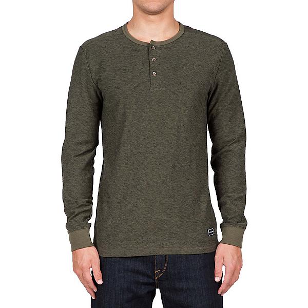 Volcom Moxee Long Sleeve Henley Mens Shirt, Military, 600