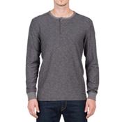 Volcom Moxee Long Sleeve Henley Mens Shirt, Pewter, medium