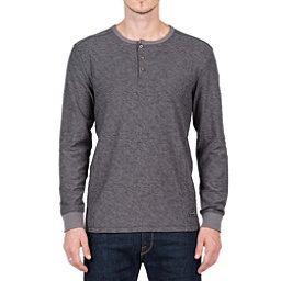 Volcom Moxee Long Sleeve Henley Mens Shirt, Pewter, 256