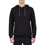 Volcom Single Stone Pullover Mens Hoodie, Black, medium