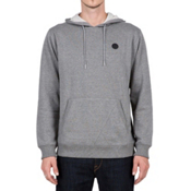 Volcom Single Stone Pullover Mens Hoodie, Dark Grey, medium