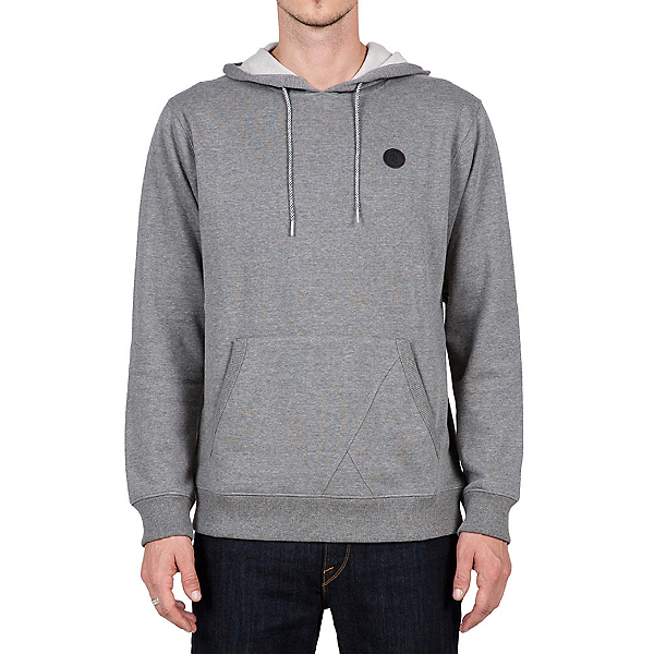 Volcom Single Stone Pullover Mens Hoodie, Dark Grey, 600