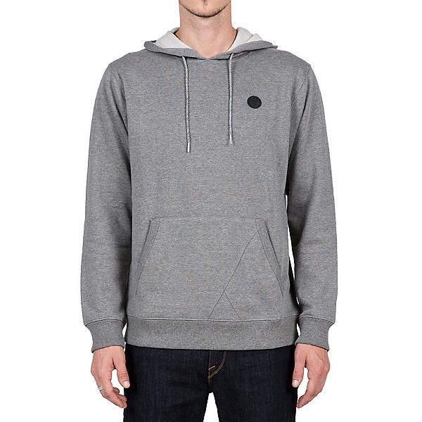 Volcom Single Stone Pullover Mens Hoodie, Dark Grey, 600