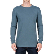Volcom Randle Thermal Mens Shirt, Airforce Blue, medium