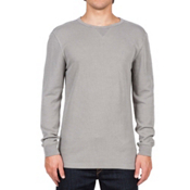 Volcom Randle Thermal Mens Shirt, Grey, medium