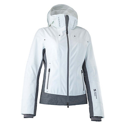 Mountain Force Rider Womens Insulated Ski Jacket, White-Smoked Pearl, viewer