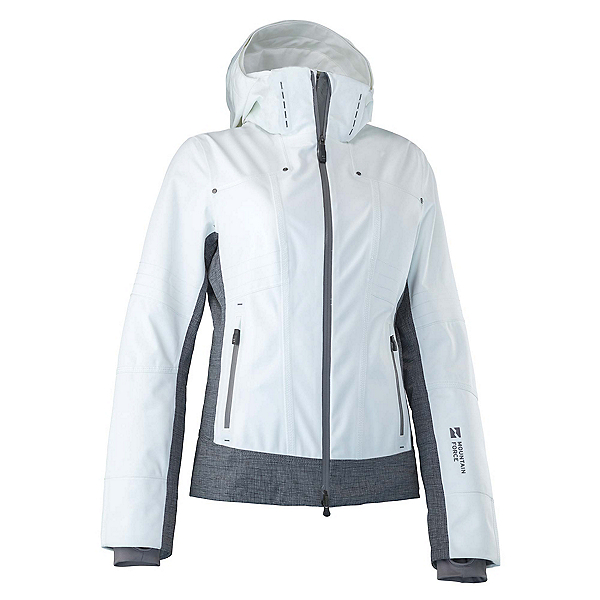Mountain Force Rider Womens Insulated Ski Jacket, White Linen, 600