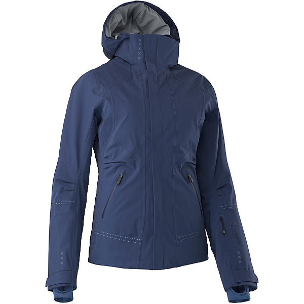 Mountain Force Samara Down Womens Insulated Ski Jacket, Peacoat-Indigo Blue, 600