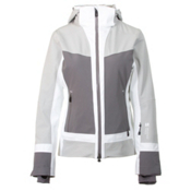 Mountain Force Cora Womens Insulated Ski Jacket, High Rise-Smoked Pearl-White, medium