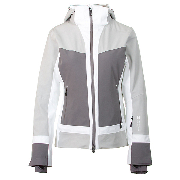 Mountain Force Cora Womens Insulated Ski Jacket, High Rise-Smoked Pearl-White, 600