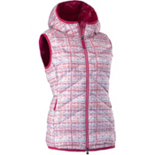 Mountain Force Cassia Down Womens Vest, White Tweed-Cerise, medium