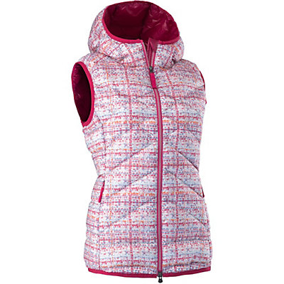 Mountain Force Cassia Down Womens Vest, White Tweed-Cerise, viewer