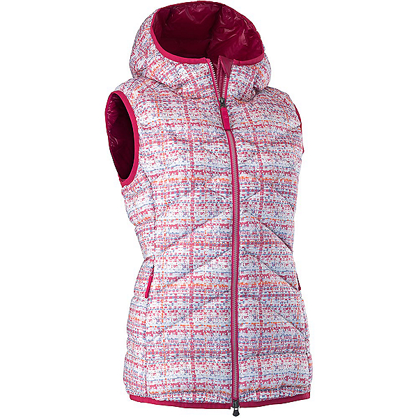 Mountain Force Cassia Down Womens Vest, White Tweed-Cerise, 600