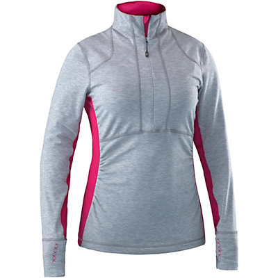 Mountain Force Raffia Shirt Womens Mid Layer, Cerise, viewer