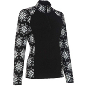 Neve Designs Ali Zip-Neck Womens Sweater, Black, medium