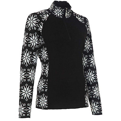 Neve Designs Ali Zip-Neck Womens Sweater, Black, viewer