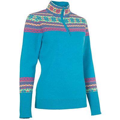 Neve Designs Caroline Zip-Neck Womens Sweater, Blossom, viewer