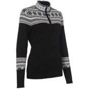 Neve Designs Caroline Zip-Neck Womens Sweater, Black, medium