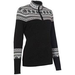 Neve Designs Caroline Zip-Neck Womens Sweater, Black, 256