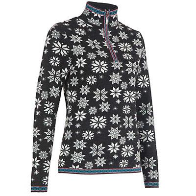 Neve Designs Jane Zip-Neck Womens Sweater, Black, viewer