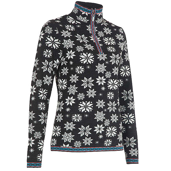 Neve Designs Jane Zip-Neck Womens Sweater, Black, 600