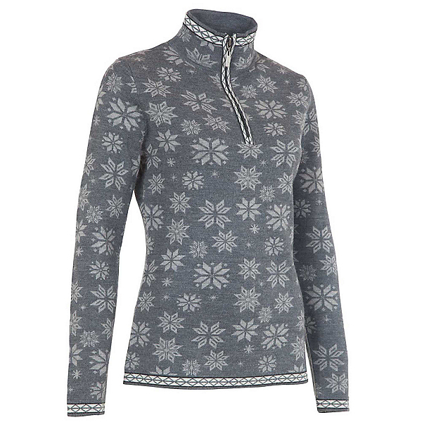 Neve Designs Jane Zip-Neck Womens Sweater, Grey, 600