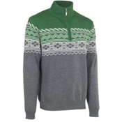Neve Designs Lars Zip-Neck Mens Sweater, Olive, medium