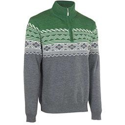 Neve Designs Lars Zip-Neck Mens Sweater, Olive, 256