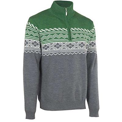 Neve Designs Lars Zip-Neck Mens Sweater, Olive, viewer