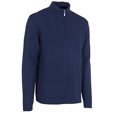 Neve Designs Andrew Zip-Neck Mens Sweater, Navy, viewer