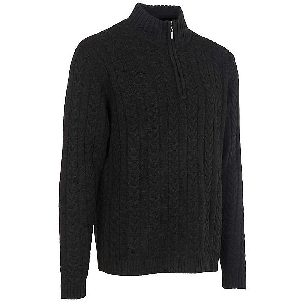 Neve Designs Andrew Zip-Neck Mens Sweater, Black, 600