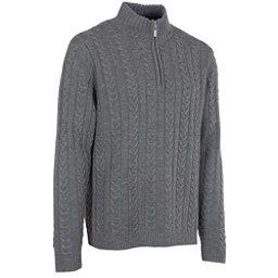 Neve Designs Andrew Zip-Neck Mens Sweater, Grey, 256